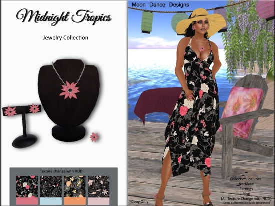 Midnight Tropics Jewelry Collection