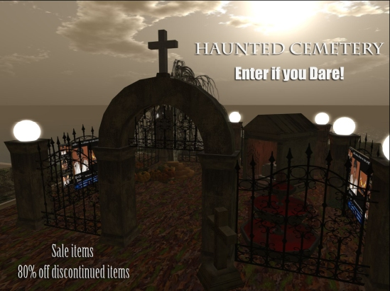 Haunted Cemetery at Moon Dance Designs