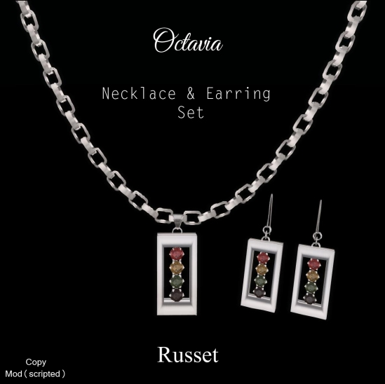 Octavia Necklace Earring Set-Russet