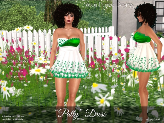 Patty Dress-White