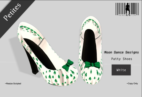 Patty Shoes-White PETITES